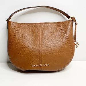 MICHAEL KORS CAMEL COLORED LEATHER HOBO